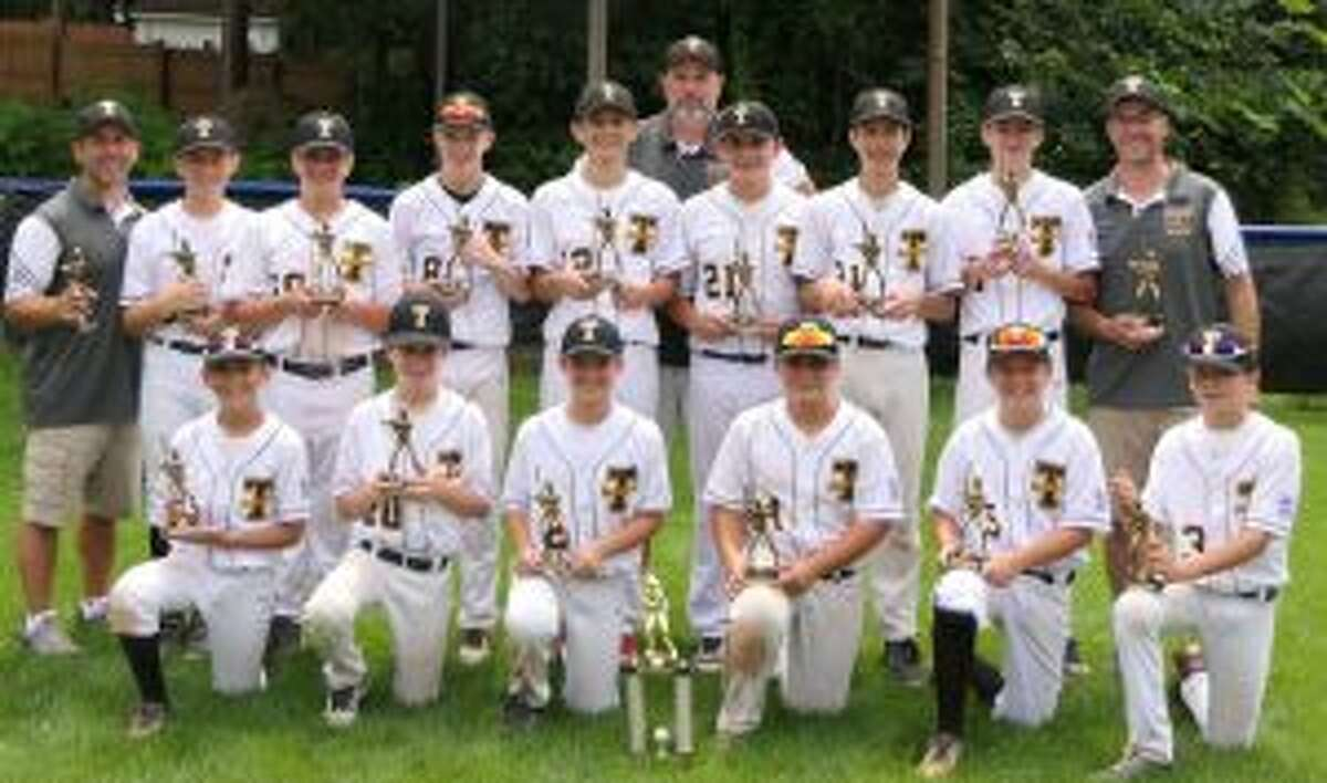 Trumbull National players are Sean Francoeur, Jackson DePino, Hayden Brill, Luca Antonio, Matthew Wood, Jeff Kraus, Henry Berrien, John Duda, A.J. Albaladejo, Jett Daly, Ben Miller, Charlie Krasinski, and Jake Colucci. Manager Matthew Wood was assisted by coaches Pete Kraus and Mitch DePino.