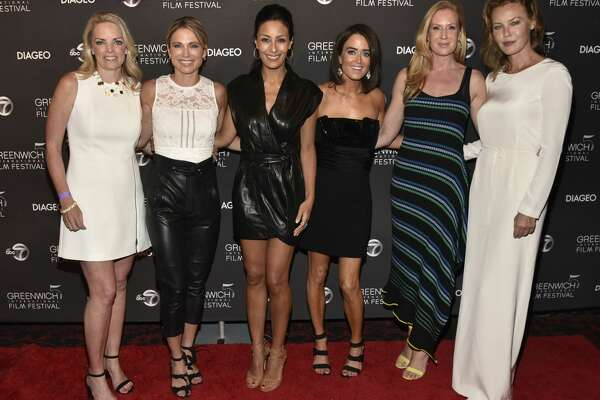 PT CHESTER, NEW YORK - JUNE 01: Ginger Stickel, Amy Robach, Liz Cho, Wendy Stapleton, Colleen deVeer, Connie Nielsen attend The Greenwich International Film Festival Epic Anniversary Party Featuring Kesha And Jessie's Girl at The Capitol Theatre on June 01, 2019 in Port Chester, New York. (Photo by Eugene Gologursky/Getty Images for Greenwich International Film Festival )
