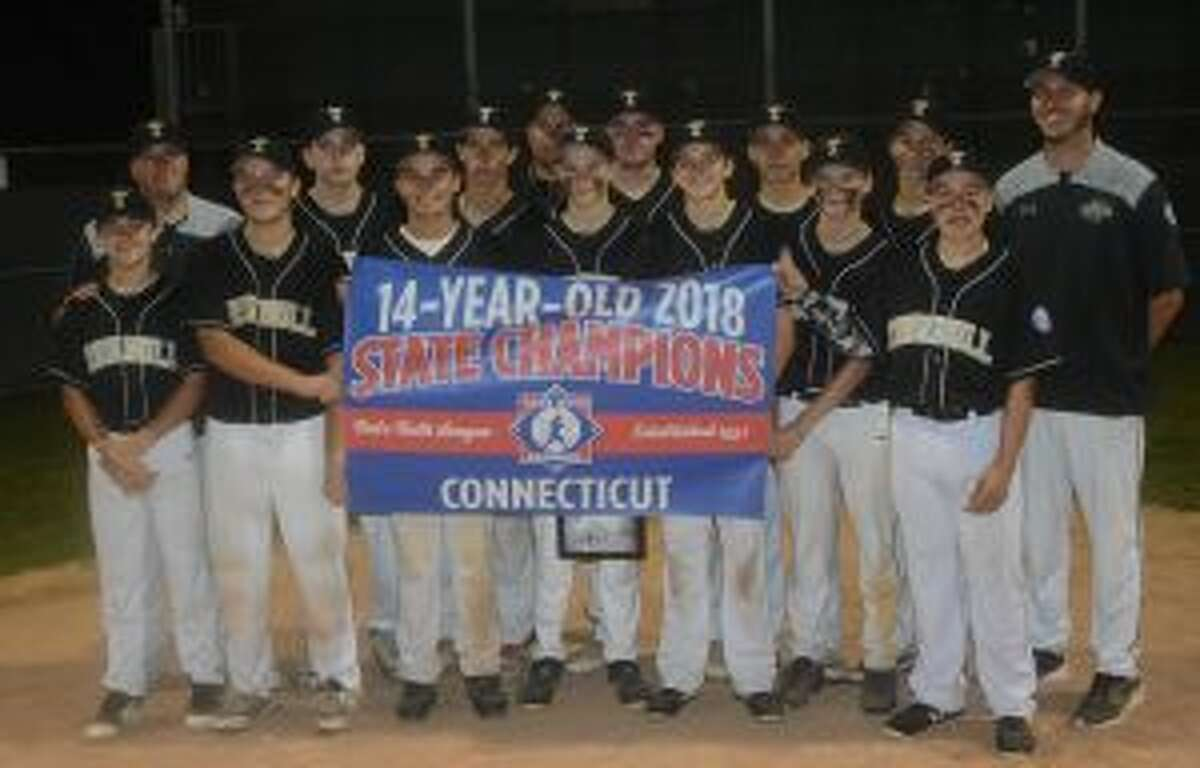Trumbull Babe Ruth won the 14-year-old state championship with a 2-1 victory over Newtown. Team members are: Jack Wallace, Bryan Kraus, Justin Delaney, Dylan Moran, Johnny Bova, Jack Ligouri, Michael Brown, Grayson Defelice, Eric Osterberg, Niko Coclin, Charlie Langworth and Joey Derienzo, manager Mike Buswell and coaches John Bova and Tyler Feldman - Andy Hutchison photos