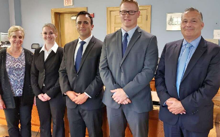 Trumbull's three new police officer candidates were recently sworn in. They will now head to the state police academy for 850 hours of training.