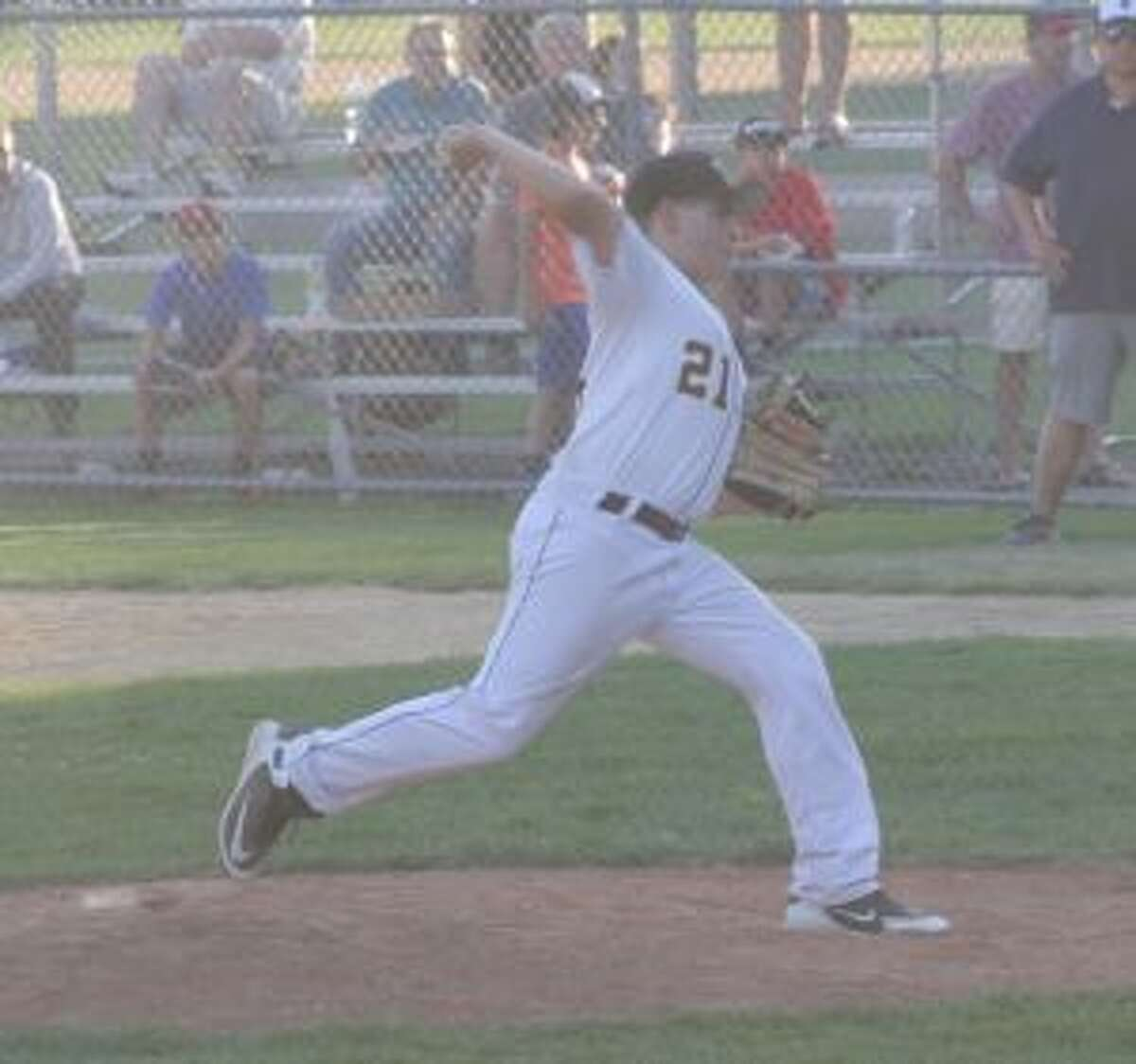 Trumbull's Jake Colucci was outstanding pitching in relief