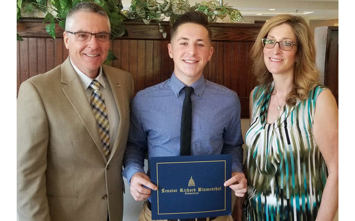 Will with his father Bill Hnatuk and mother Dawn Hnatuk.