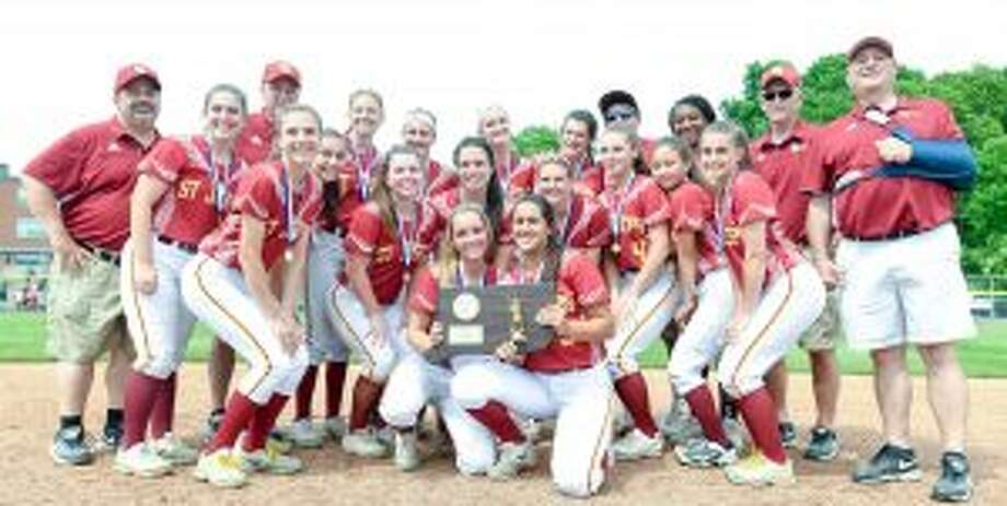 St. Joseph won the Class M softball title with a 5-2 victory over Griswold High. — David G. Whitham photos