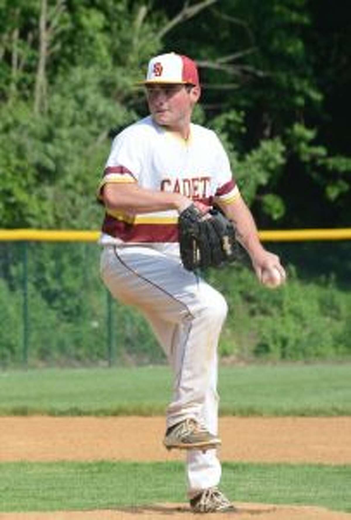 Jim Evans pitched six innings and had a pair of hits, including an RBI double.