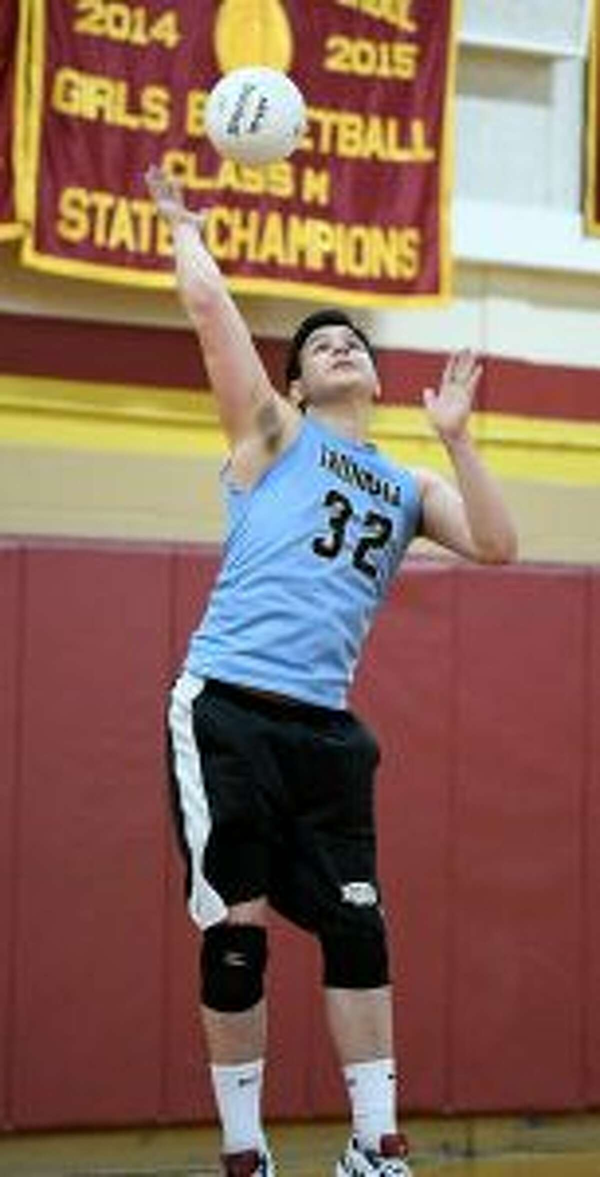 Nick Johnson is a senior captain and libero for the Eagles. - David G. Whitham photo