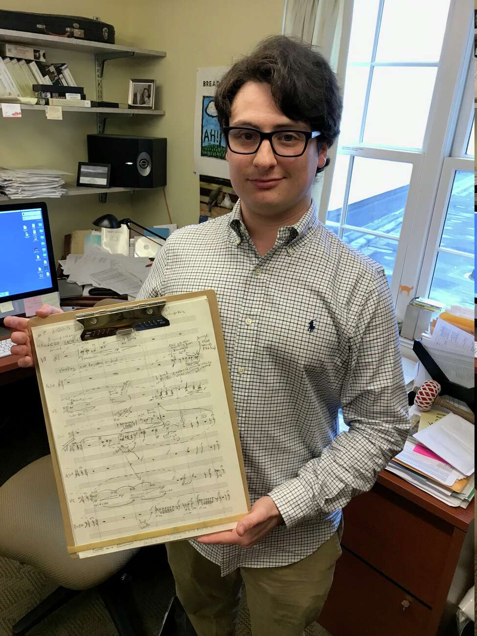 Max Stwertka, a Union College senior, composed a tone poem in seven movements to honor his famous violinist great-granduncle, Julius Stwertka, who died in the Holocaust