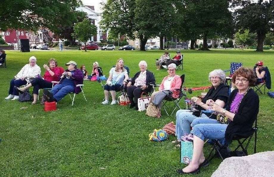 In Sheep's Clothing invites knitters and crocheters to meet for World Wide Knit in Public Day at the Torrington Library Saturday from 10:30 a.m. to 2:20 p.m. Photo: Contributed Photo