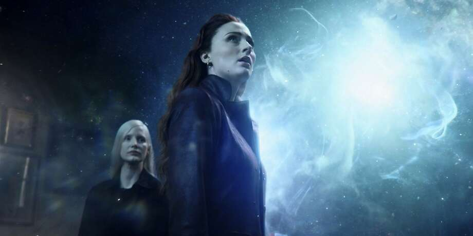 "This image released by Twentieth Century Fox shows Sophie Turner and Jessica Chastain, left, in a scene from ""Dark Phoenix."" (Twentieth Century Fox via AP) Photo: Associated Press"
