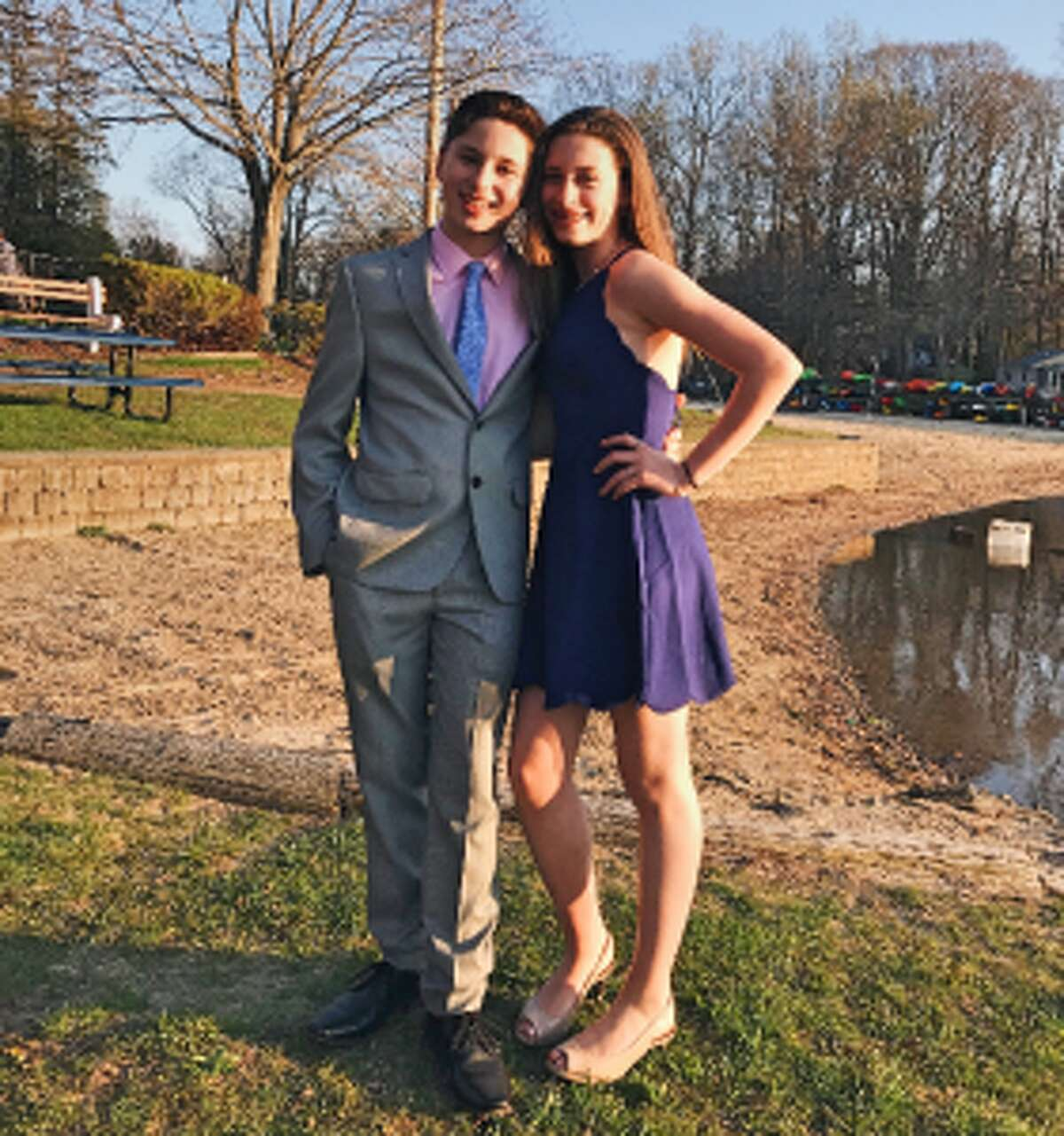 Olivia Lagano and Harrison Jarit hope to help support Charlie Capalbo and his family through a dance performance.