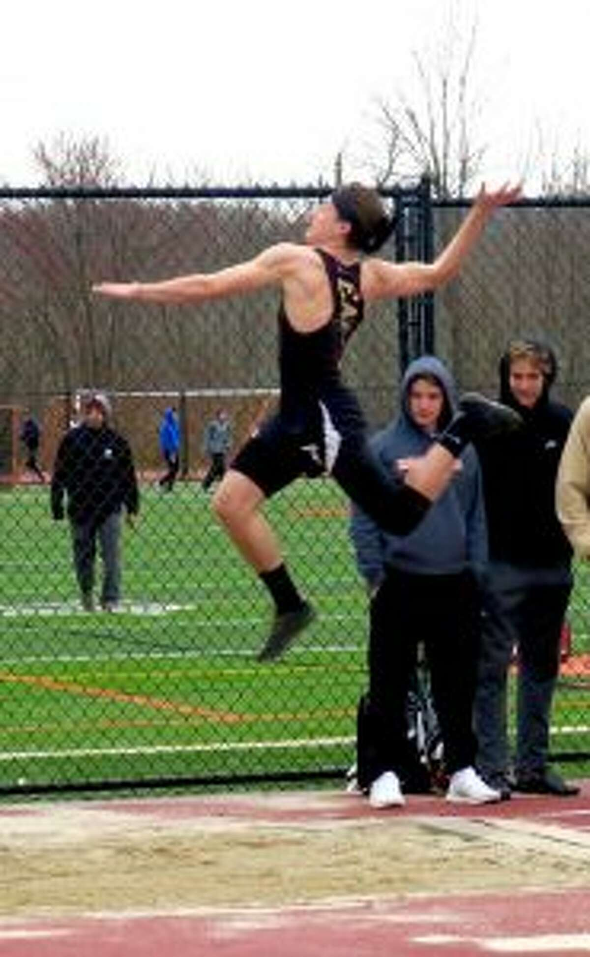 Jack Jones was first in the long and triple jump.