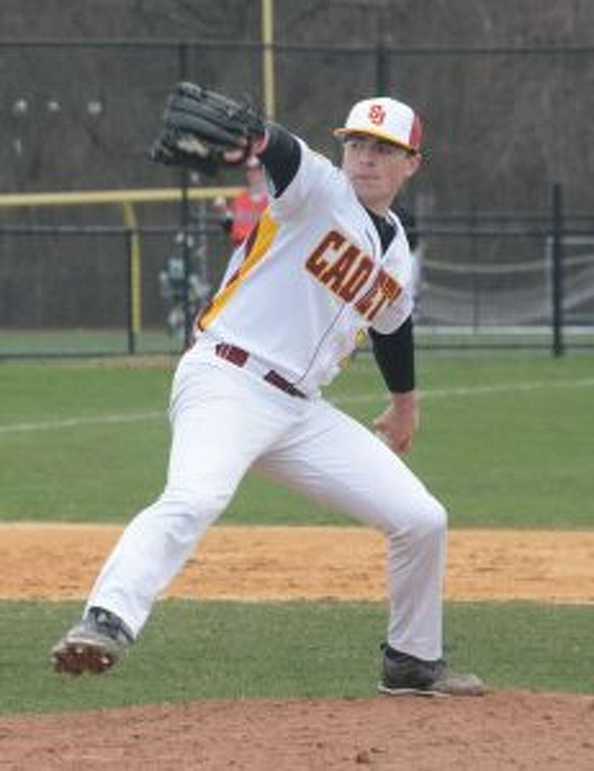 Al Paolozzi pitched St. Joseph to its sixth consecutive victory. - Andy Hutchison photos