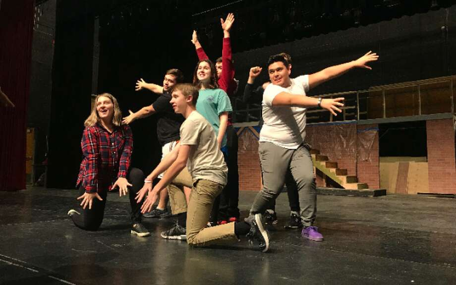 Trumbull High's production of Curtains opens Friday. — Kylie Forstrom photo
