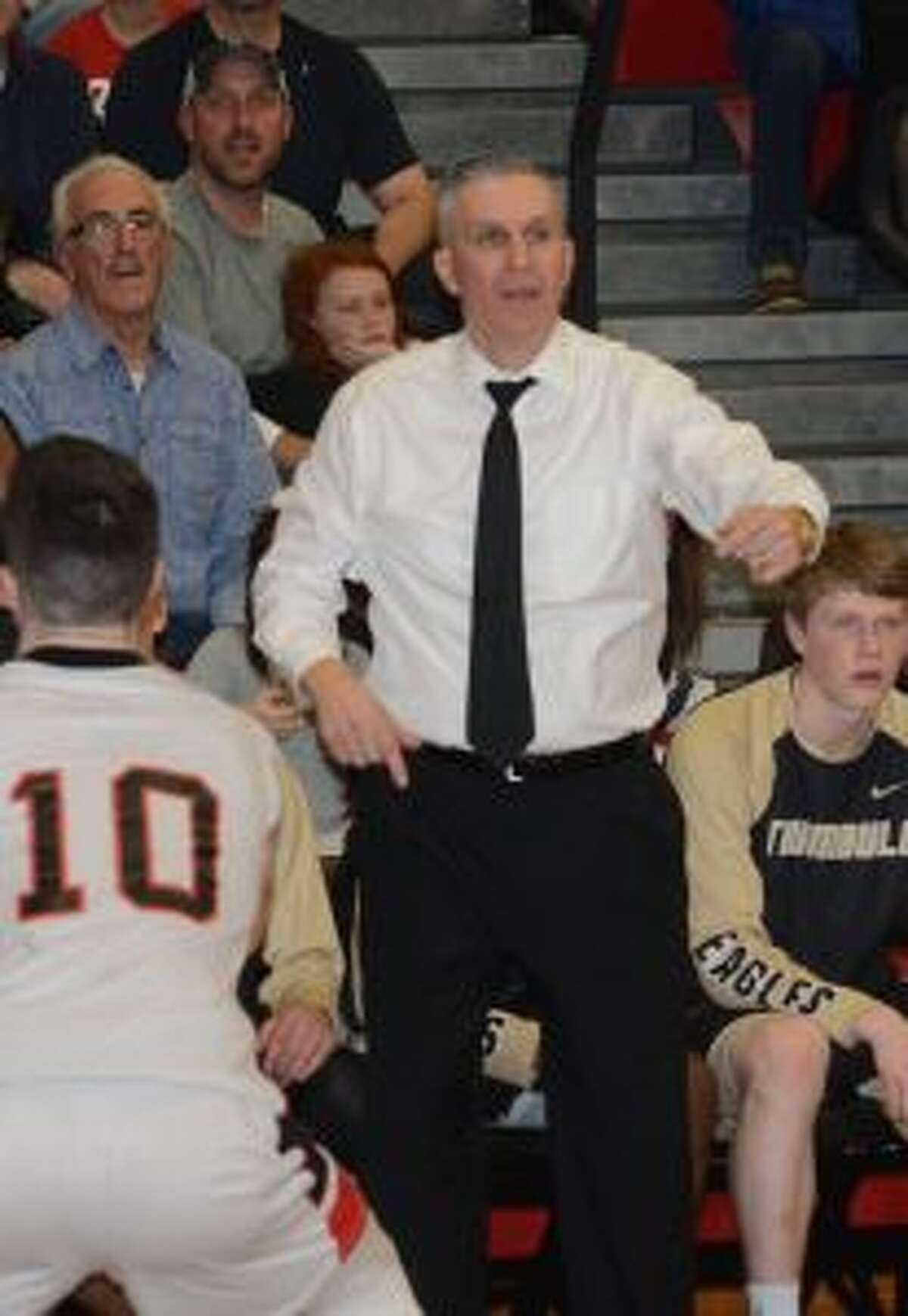 Trumbull coach Buddy Bray has guided his senior-less squad to the FCIAC semifinals.