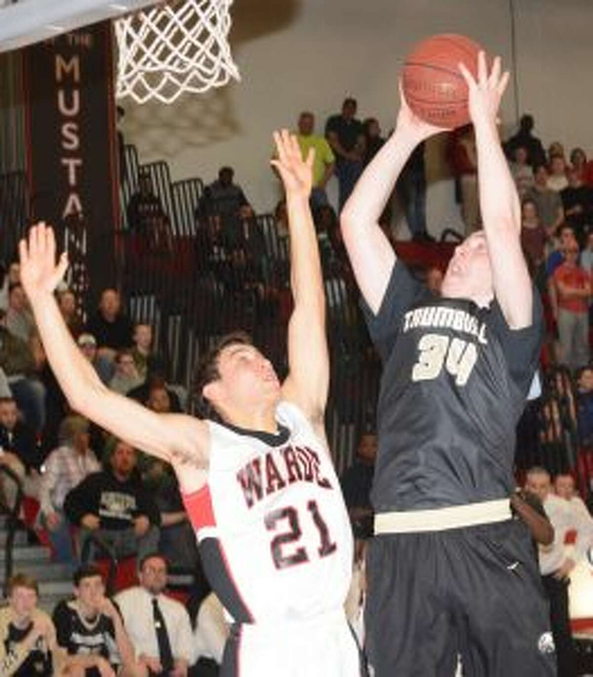 Evan Gutowski scored 15 points, with 10 rebounds.