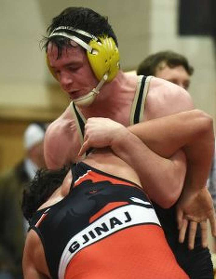 Trumbull High's Brett Nutter earned the 195-pound title in overtime. — Dave Stewart photo