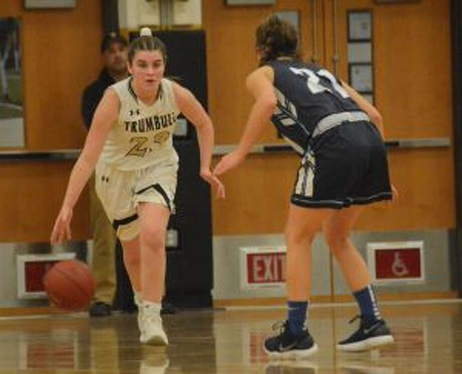 Julie Keckler scored 10 points in the first quarter, when Trumbull took a 14-4 lead.. — Andy Hutchison photo