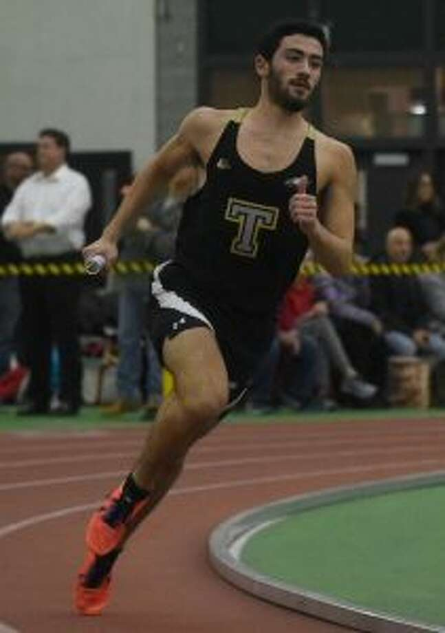 Tyler Rubush and his 1600 sprint medley relay team placed first at FCIACs. — Dave Stewart photo