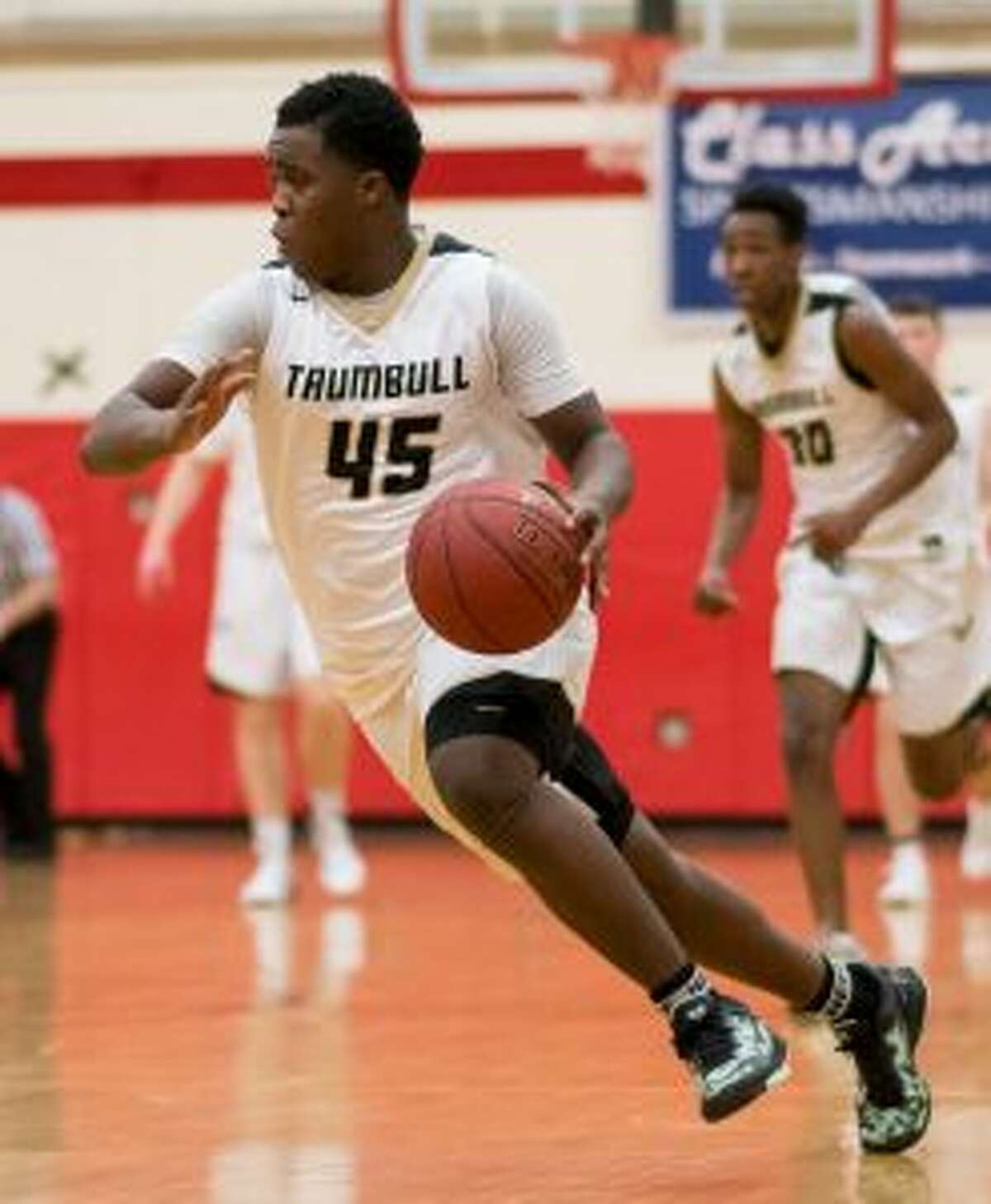 Trumbull High's Quentar Taylor was the guiding light in its win over Staples. - David G. Whitham photo