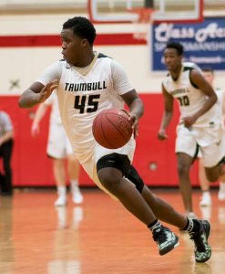 Trumbull High's Quentar Taylor was the guiding light in its win over Staples. — David G. Whitham photo