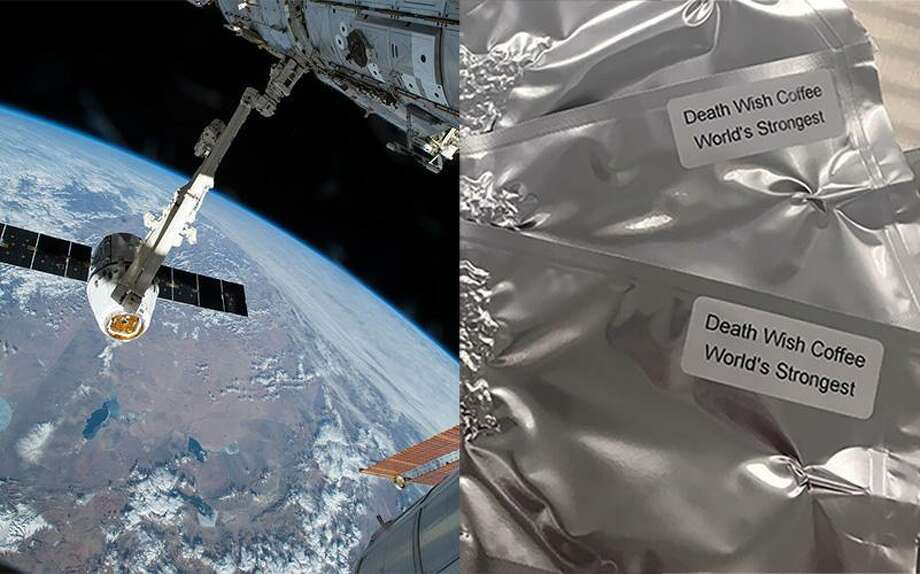 Death Wish Coffee, a company based in Round Lake, is returning to the International Space Station as part of a science experiment conducted by California students, according to the company. Photo: NASA Via Death Wish Coffee