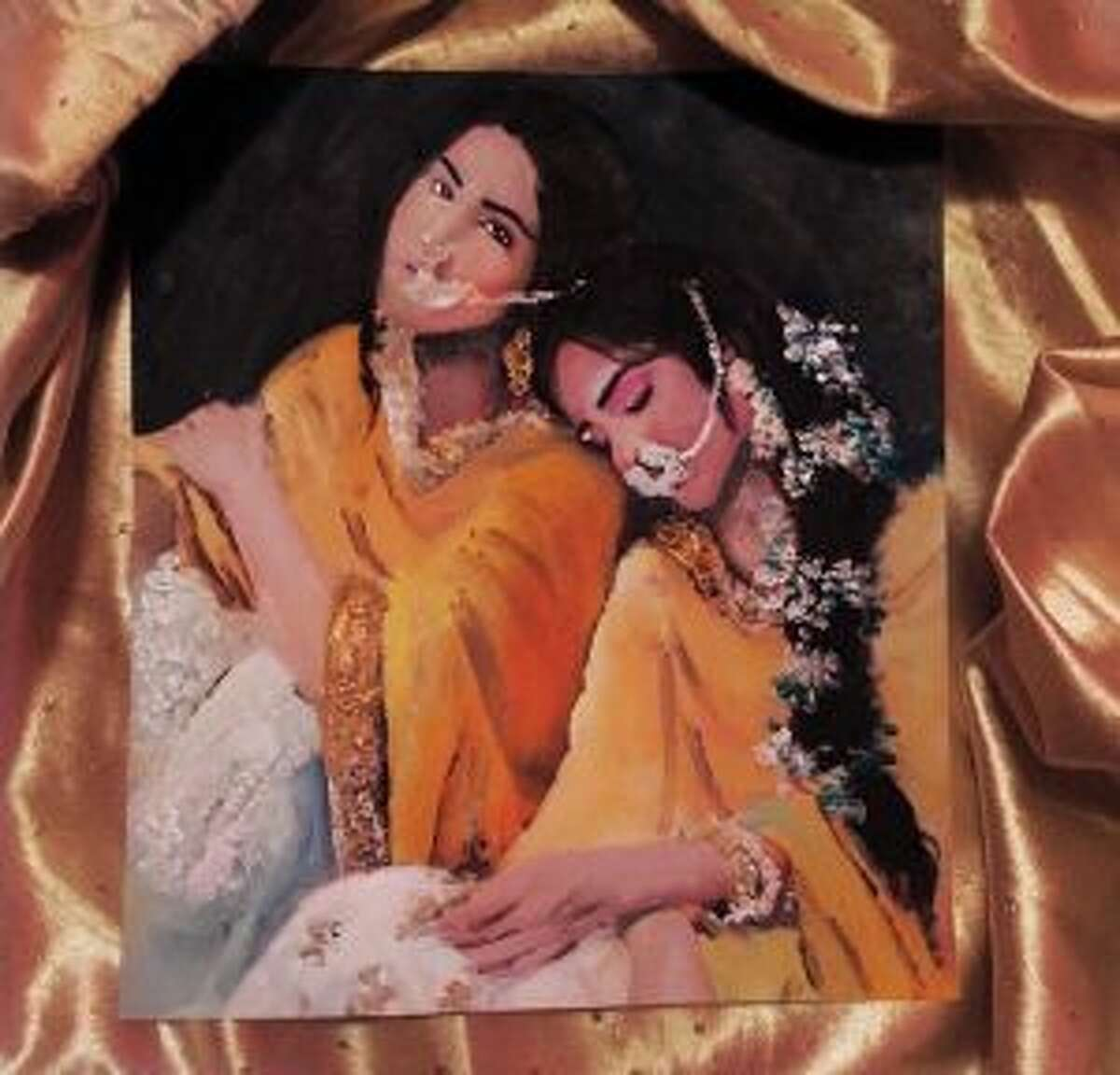 Bhadrangi Soni's paintings feature South Asian survivors of sexual assault.