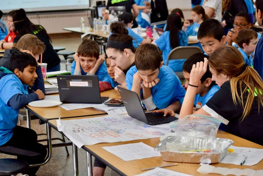 Trumbull students in grades 4-8 from all six elementary schools and both middle schools attended the hackathon for social good at Madison Middle School.