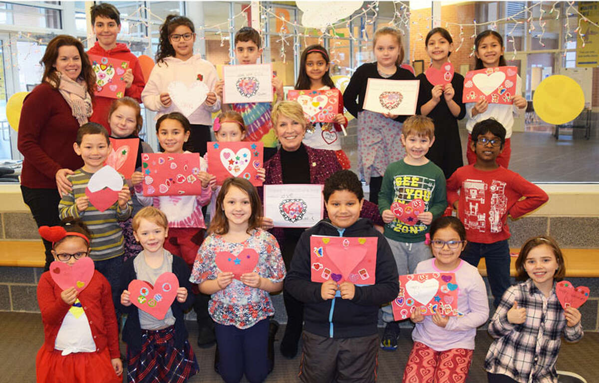 State Rep. Laura Devlin (R-134), teamed up with students from Frenchtown Elementary School to make valentines for seniors and patients at Bridges at EPOCH. The students made dozens of handmade valentines and Devlin delivered them on Valentine's Day.
