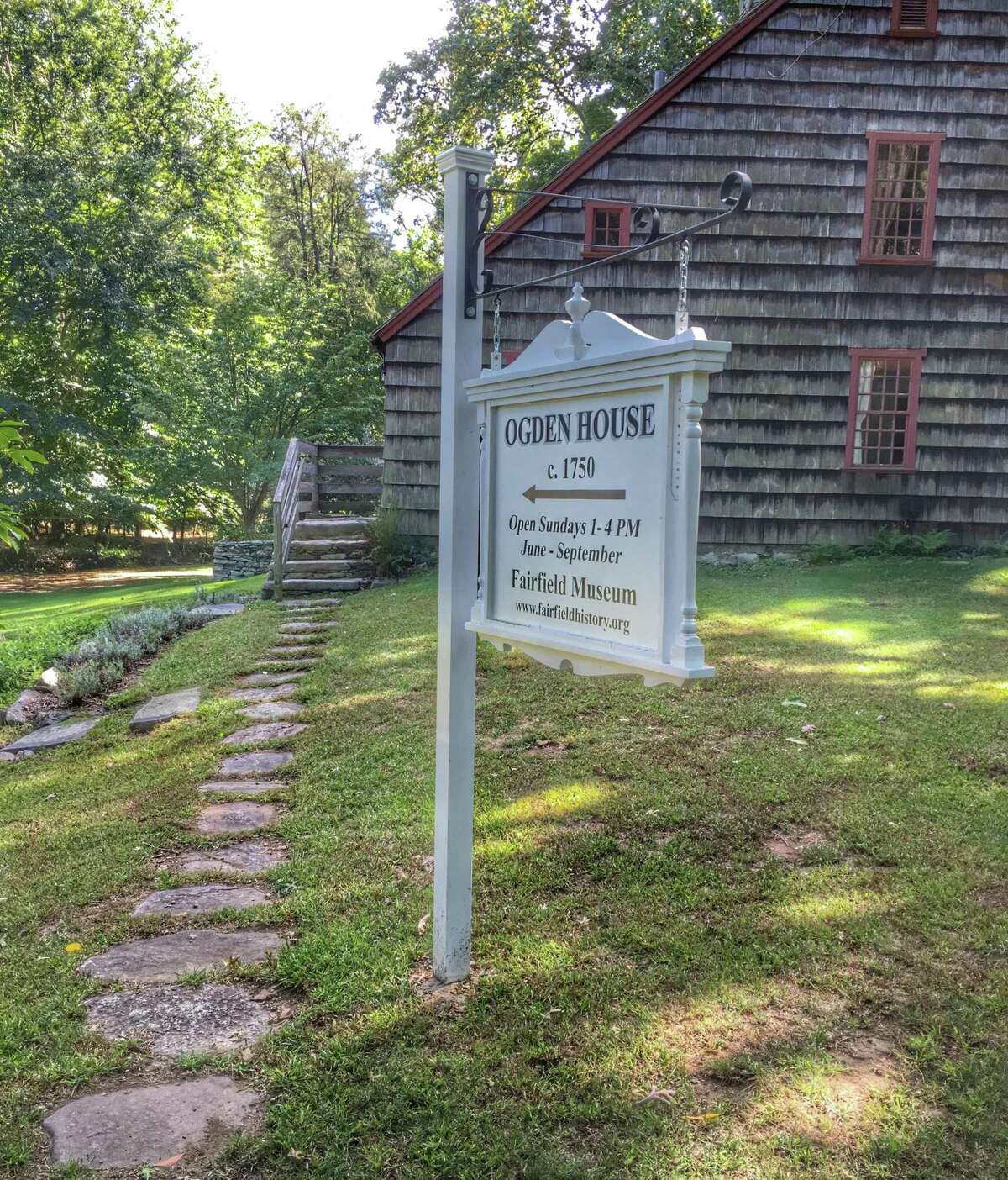 The Ogden House, a stellar example of 18th century saltbox-style architecture.