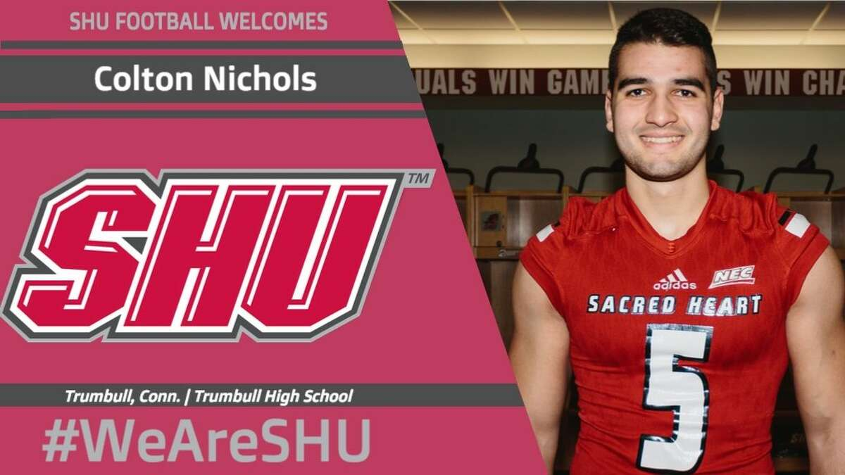 Colton Nicholas puts on the SHU Pioneers' No. 5.Contributed photo