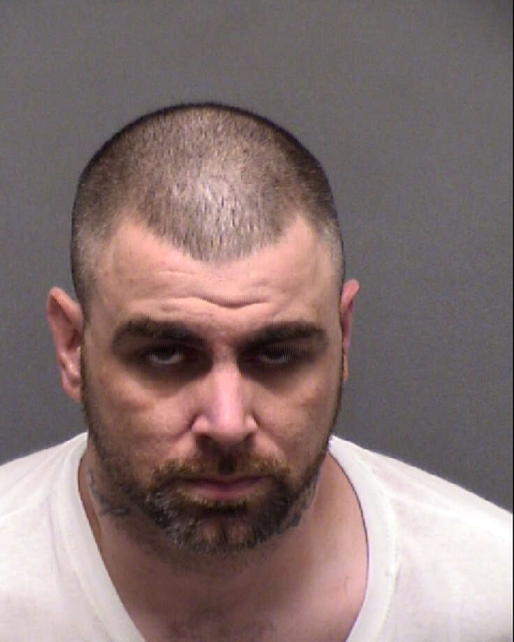 Jacob Corby, 32, was arrested after an officer-involved shooting at a Northwest Side motel on June 3, 2019. Corby is accused of backing into San Antonio police officers with a stolen car. Photo: Bexar County Jail