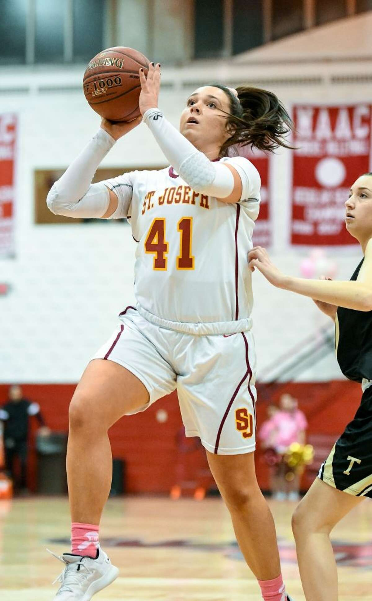 Emma Elrod made a three-pointer to tie the game at 46 with four seconds remaining.