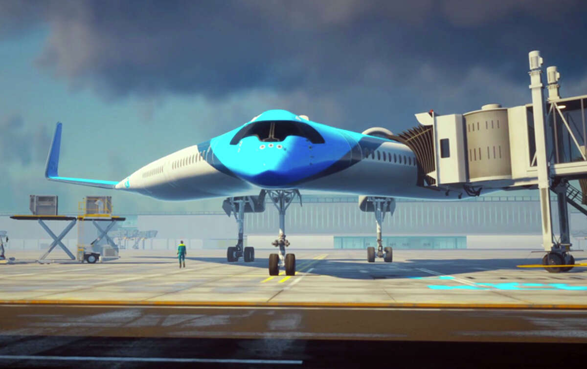 The Flying-V would be able to use A350 gates.