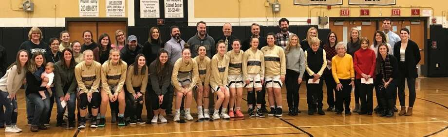 Thank a Teacher Night was held by the Trumbull High girls basketball team on Friday.