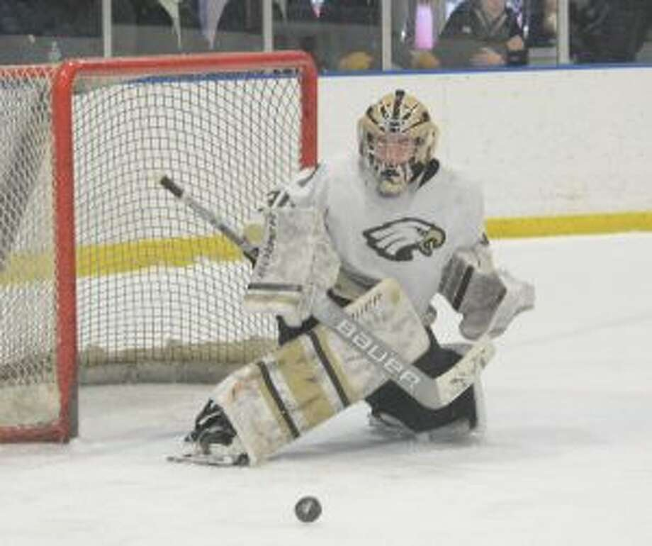 Alex Tsymbalyuk made 33 saves for the Eagles. — Andy Hutchison photos