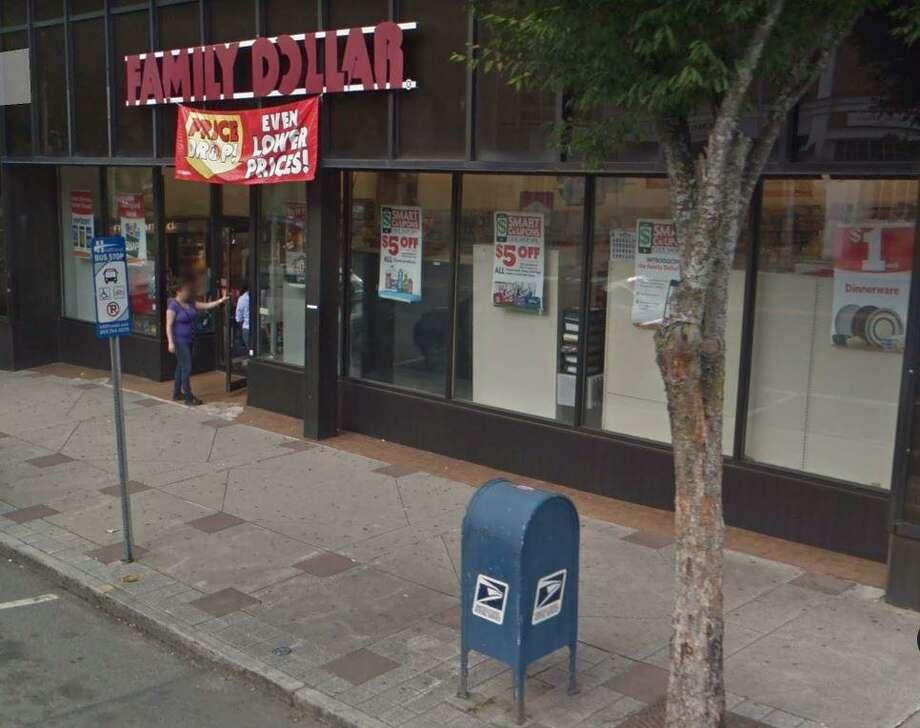 Family Dollar, 199 Main St., Danbury, failed its health inspection on May 14, 2019. Photo: Google Maps