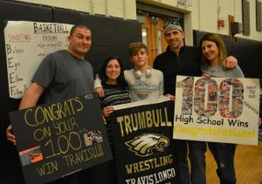 Pictured with Travis Longo are Anthony Mazzella, Libby Mazzella (mom), James Longo (dad) and Sarah Kiska.