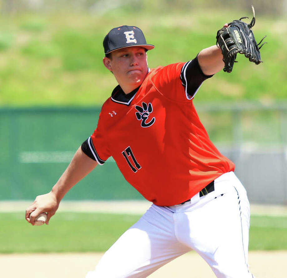 Edwardsville's Matt Boyer has signed to pitch next season at Saint Louis University. Boyer's senior season at EHS is still active with the Tigers in the IHSA Class 4A Final Four this weekend. Photo: Telegraph Photo