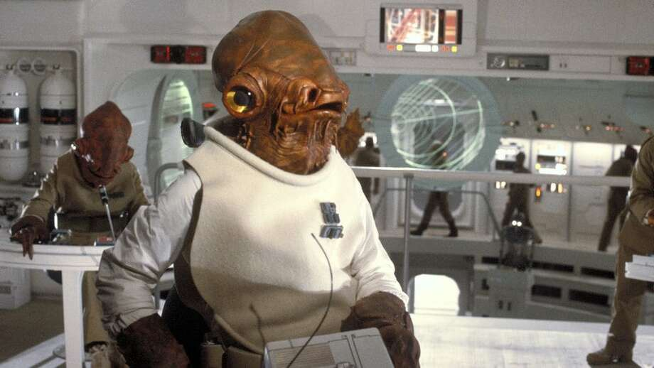 """Admiral Ackbar, performed by Tim Rose in """"Return of the Jedi"""" and two other """"Star Wars"""" films. Photo: Lucasfilm"""