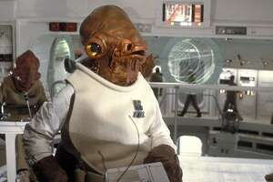 """Admiral Ackbar, performed by Tim Rose in """"Return of the Jedi"""" and two other """"Star Wars"""" films."""
