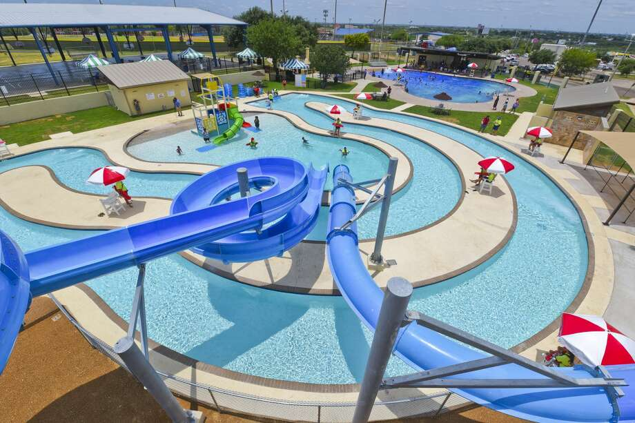 Laredoans enjoy tubing, sliding and the pool on Saturday, June 1, 2019, during the opening of Sisters of Mercy Water Park. Photo: Danny Zaragoza/Laredo Morning Times