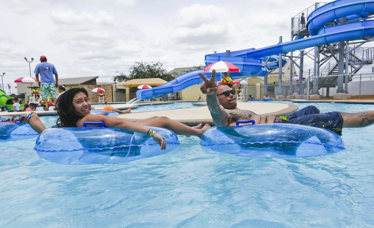 Laredoans enjoy tubing, sliding and the pool on Saturday, June 1, 2019, during the opening of Sisters of Mercy Water Park.