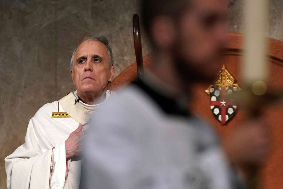 Cardinal Daniel DiNardo presides over a Mass of Ordination for candidates for the priesthood at the Co-Cathedral of the Sacred Heart in Houston Saturday, June 1, 2019. DiNardo, leading the U.S. Catholic Church's sex abuse response, has been accused of mishandling a case where his deputy allegedly manipulated a woman into a sexual relationship, even as he counselled her husband and solicited their donations. Photo: David J. Phillip, Associated Press / Copyright 2019 The Associated Press. All rights reserved.