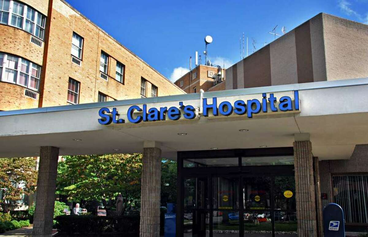 The former St. Clare's Hospital in Schenectady is hosting a new coronavirustesting site.