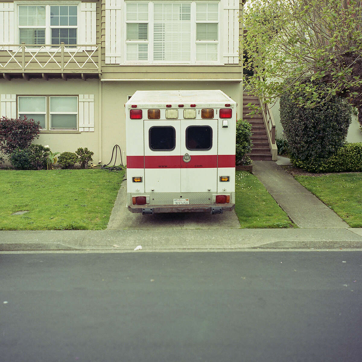 Parked emergency. [Bronica S2   Kodak Portra 800] Photographer Mariano Rossetti only uses analog film cameras for the photographs on his Instagram page:Foto.Rossetti