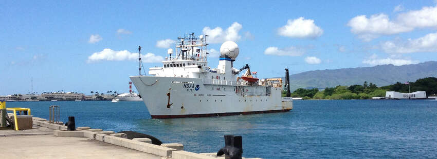 In May, Okeanos Explorer set sail from Pascagoula, Mississippi, for a 13-day mission that concluded in Key West, Florida. (Source: National Oceanic and Atmospheric Administration)