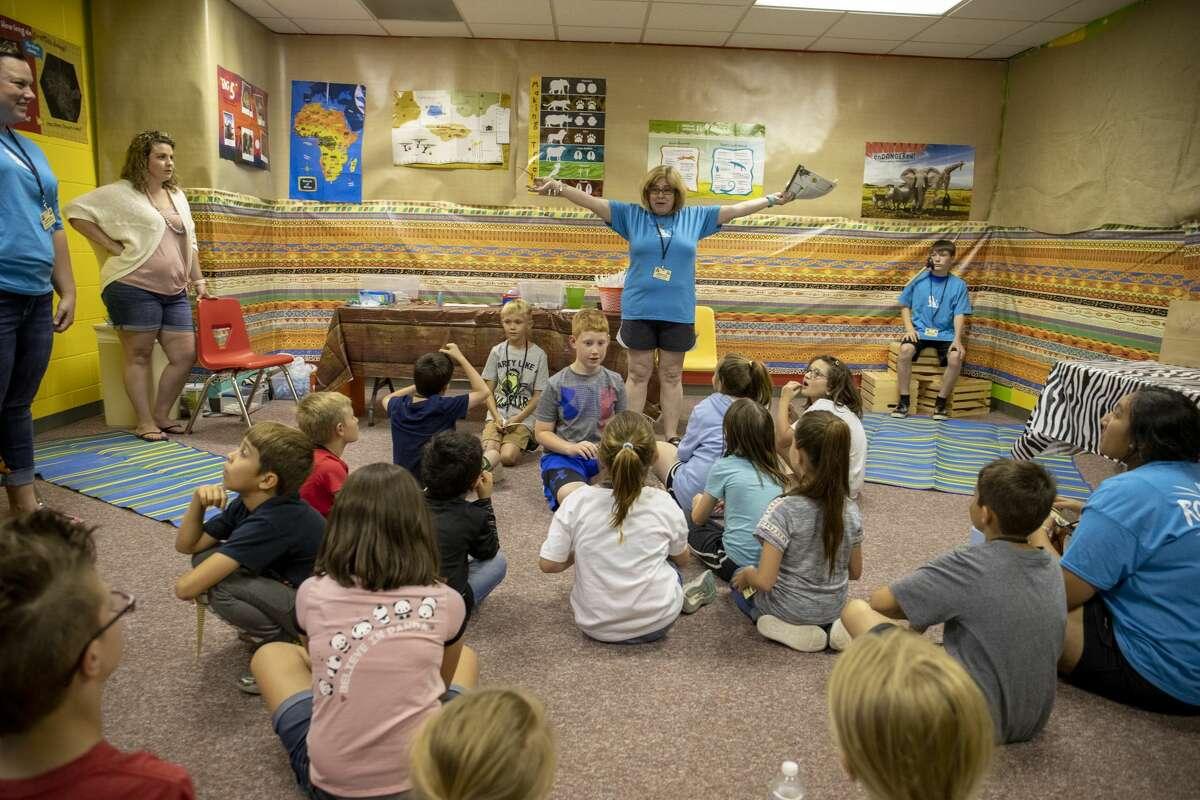 Children attend vacation Bible school at First United Methodist Church on Monday, June 3, 2019. Jacy Lewis/Midland Reporter-Telegram