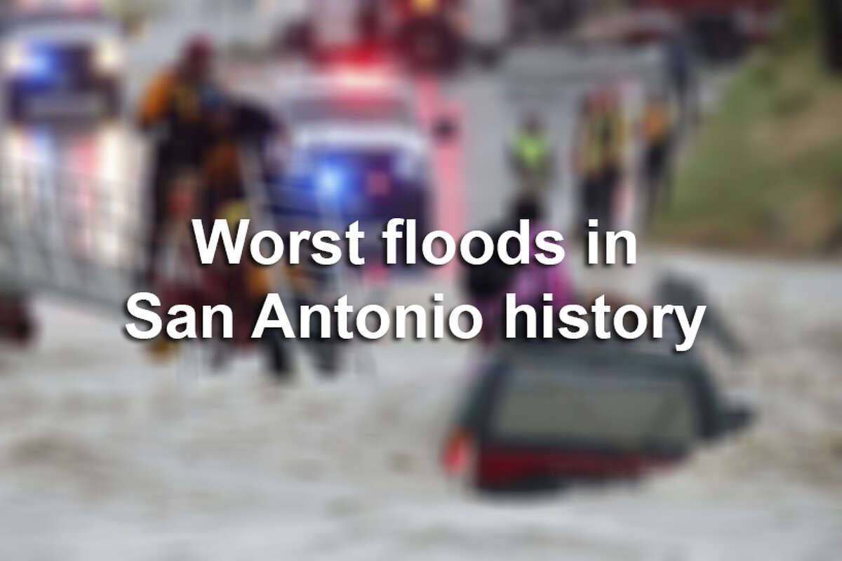 Keep clicking to see photos from the worst floods in San Antonio history.