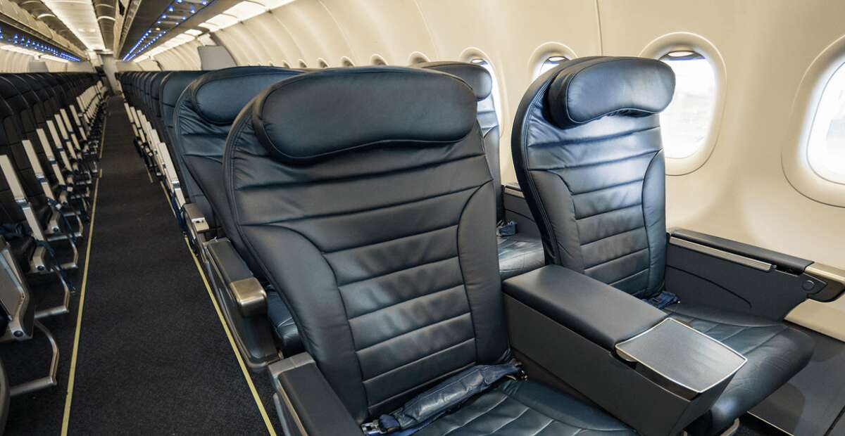 Spirit Airlines Big Front Seat: 8 per plane, 34 inches of pitch and anyone can upgrade for a fee.