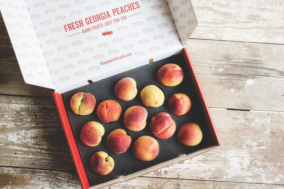 The Peach Truck will make stops in Porter and Humble as part of their nationwide tour to provide fresh Georgia peaches. Photo: The Peach Truck