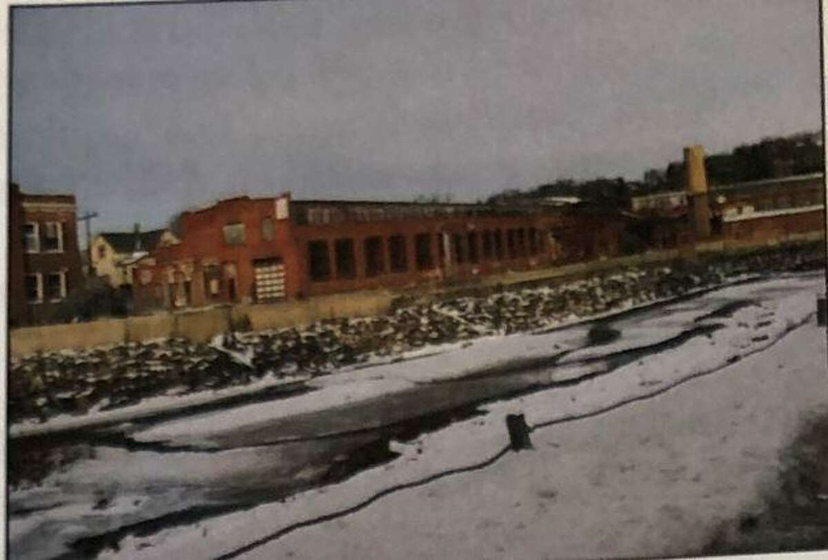 The back view of the former Torrington Manufacturing Company before it was demolished in 2010. The property could be slated for development through the city's Brownfields program.